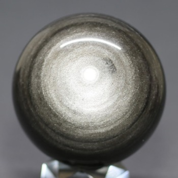 [メキシコ産]シルバーゴールドオブシディアン丸玉 /黒曜石スフィア(63.1mm)