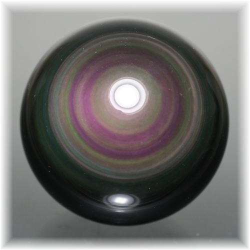 メキシコ産レインボーオブシディアンスフィア(OBSIDIAN-SPHERE325IS)
