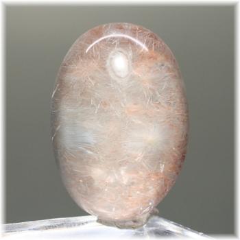 ブラジル産 シルバーピンクデュモルチェライトインクォーツ ルース (PinkDumortieriteinQuartz-LS2806IS)