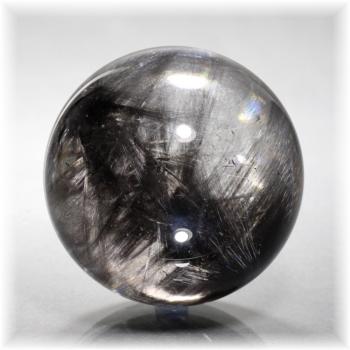 ブラックプラチナルチルクォーツ スフィア[50mm](PlatinaRutile-1007IS)