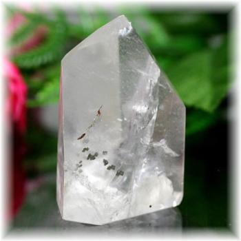 ブラジル産パイライト入り水晶ポリッシュポイント(PYRITEinQUARTZ-103)