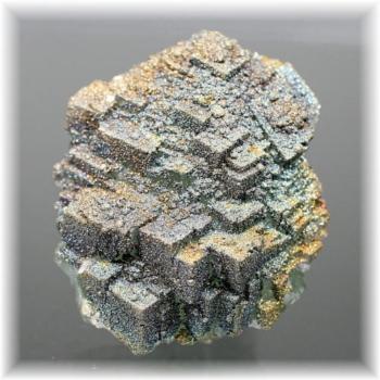モロッコ産パイライト付きグリーンフローライト結晶石(PyriteWithFluorite-k103)
