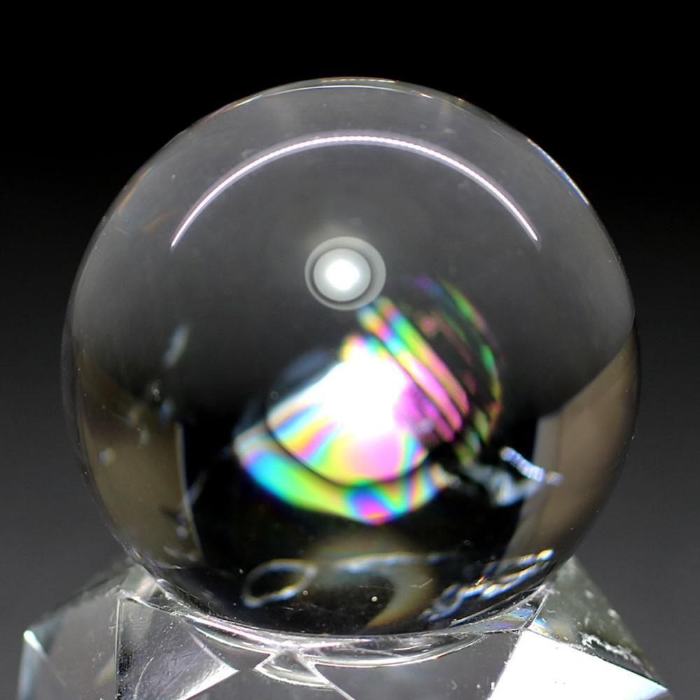 [高品質]レインボー水晶玉/アイリスクォーツスフィア(丸玉直径31.0mm)