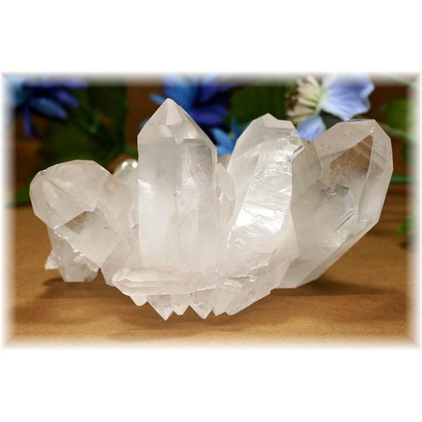ブラジル・ミナスジュライス産水晶Wポイントクラスター(QUARTZCLUSTER-392IS)
