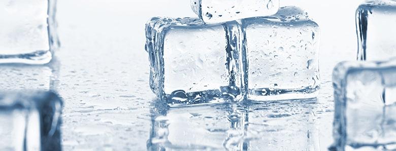 水晶とガラス玉を氷で見分ける方法