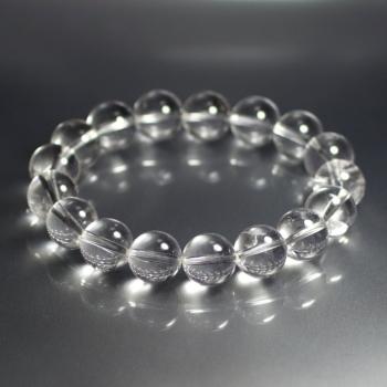 ガネッシュヒマール産天然ヒマラヤ水晶約12ミリブレスレット(GANEZA-ROUNDPW1202)