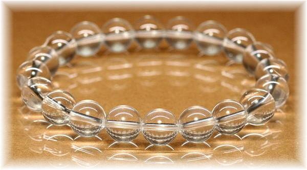 ヒマラヤ水晶ラウンドブレスレットの写真