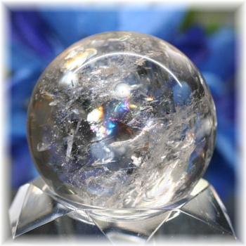 [高品質]レインボー水晶 丸玉(RQTZ-SPHERE0268IS)