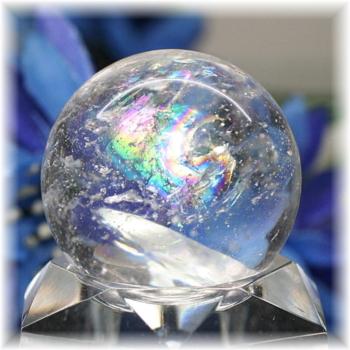[高品質]レインボー水晶 丸玉(RQTZ-SPHERE0272IS)