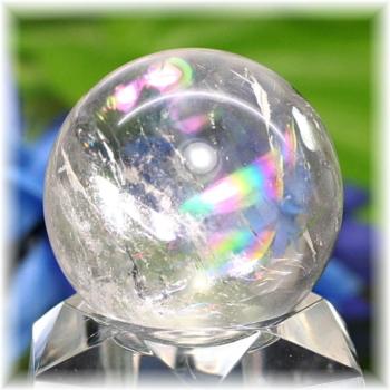 [高品質]レインボー水晶 丸玉(RQTZ-SPHERE0334IS)