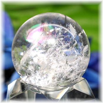 [高品質]レインボー水晶 丸玉(RQTZ-SPHERE0340IS)
