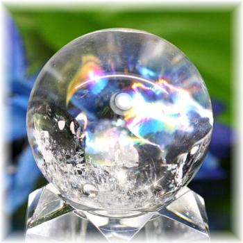 [高品質]レインボー水晶 丸玉(RQTZ-SPHERE0454IS)