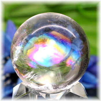 [高品質]レインボー水晶 丸玉(RQTZ-SPHERE0524IS)