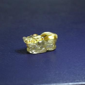 ゴールドルチルクォーツ ヒキュウ彫り(RUTILE-HIKYUU-IS04)