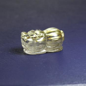 ゴールドルチルクォーツ ヒキュウ彫り(RUTILE-HIKYUU-IS09)