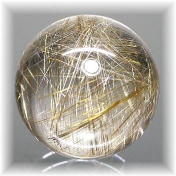 高品質ゴールドシルバールチルクォーツ スフィア [31.5㎜](RUTILEQUARTZ-SPHERE312IS)