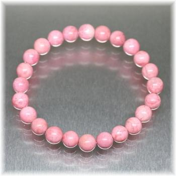 桜ロードナイトシリカ約8ミリ玉ブレスレット[SRNB-0803](SakuraRhodoniteSilica-0803IS)