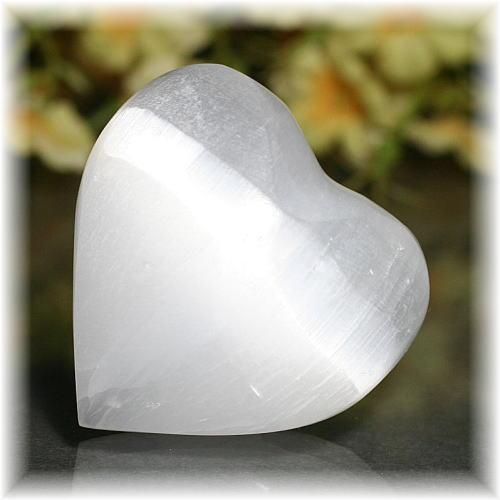 モロッコ産セレナイトハートシェイプ(SELENITE-HEART118)