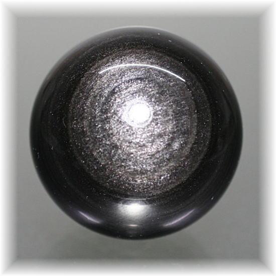 メキシコ産シルバーオブシディアン スフィア(SILVEROBSIDIAN-709IS)