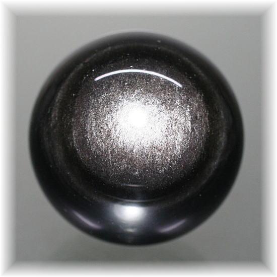 メキシコ産シルバーオブシディアン スフィア(SILVEROBSIDIAN-715IS)