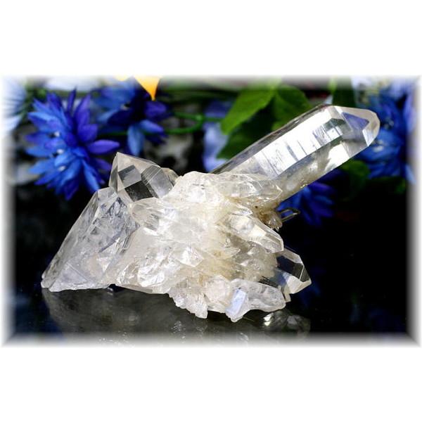 パキスタン・スカルドゥー産ヒマラヤ水晶/クラスター(SKARDU-HIMALAYAQUARTZ245IS)