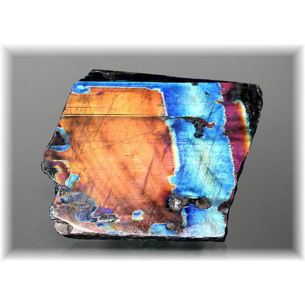 フィンランド産スペクトロライト1面磨き結晶石(SPECTROLITE-JPP205)