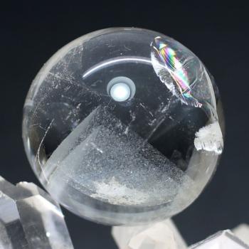 [ブラジル産]ホワイトファントム丸玉/スフィア(直径31.1mm)