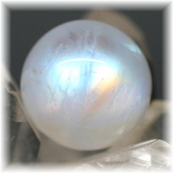 高品質ムーンストーン スフィア (ホワイトラブラドライト)(WhiteLabradorite-RQ103IS)