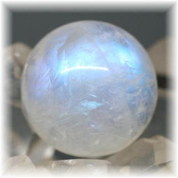 高品質ムーンストーン スフィア (ホワイトラブラドライト)(WhiteLabradorite-RQ106IS)