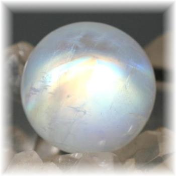 高品質ムーンストーン スフィア (ホワイトラブラドライト)(WhiteLabradorite-RQ107IS)