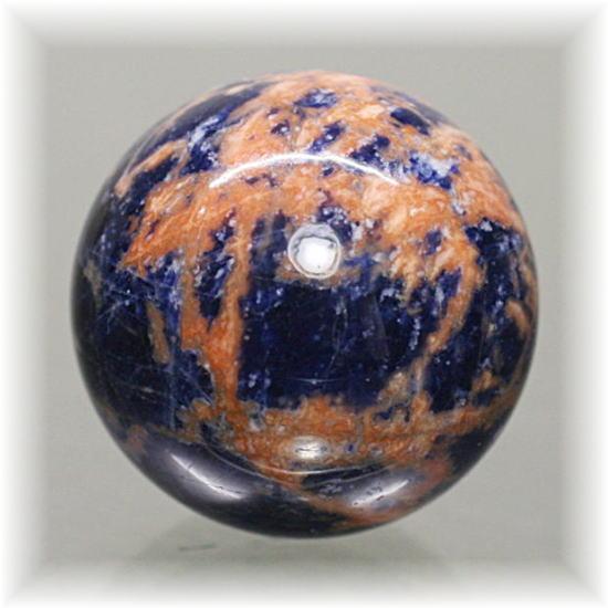 ブラジル産オレンジゼオライトインソーダライト スフィア(ZeoliteinSodalite-SPHERE303IS)